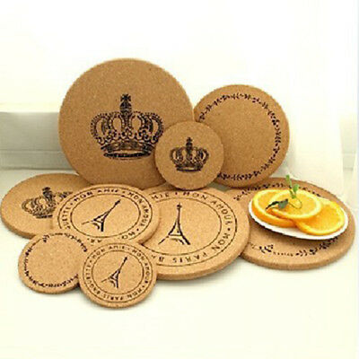 Newest Retro Wood Coffee Cup Coaster Table Heat Resistant Round Mats Home Decor