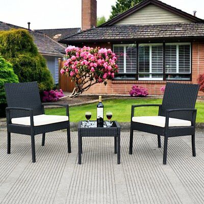 Patio Furniture Sets Clearance Home 3 Piece Cushioned Compact Outdoor/Indoor NEW