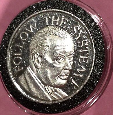 Follow The System 1 Troy Oz .999 Fine Silver Rare Round Coin Medal Medallion