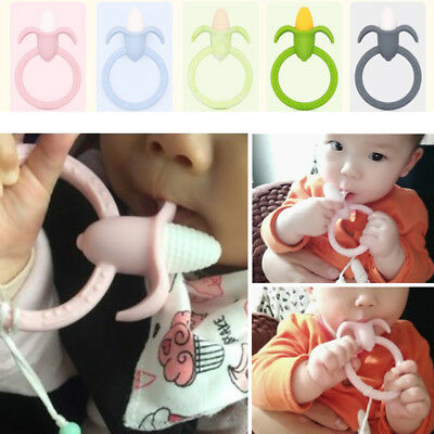 Silicone Baby DIY Corn Teether Ring Pendant Pacifier Dummy Nursing Teether Toy