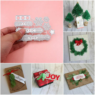 Wreath Cutting Dies Christmas Tree Metal Die Template DIY Decoration Handmade