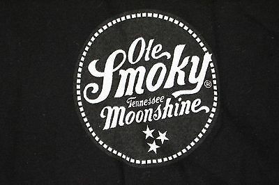 Ole Smoky Tennessee Moonshine T Shirt, Black MEN'S SIZE MEDIUM