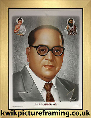 "Dr Br Ambedkar Picture Frame In Size - 12"" X 9"" 