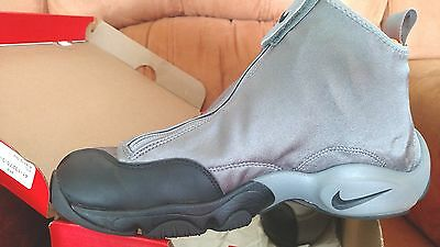 EUC NIKE AIR ZOOM FLIGHT THE GLOVE 616772 002 GREY BLK ORANGE SIZE 9-1/2