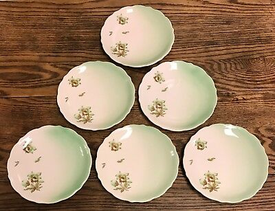 """Syracuse China DESERT FLOWER 8 1/4"""" Luncheon Plate Set of 6 - Union Pacific RR"""