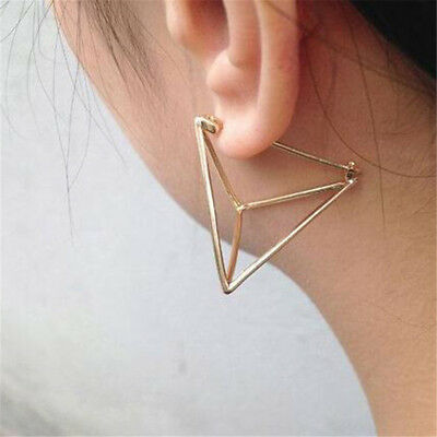 Triangle Hollow Geometric Cone Shape Stud Personality Earrings Jewelry Gifts