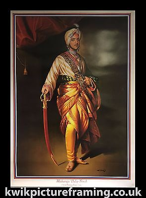 "Large Maharaja Duleep Singh Ji Last King Of Punjab In Size - 40"" X 28"" Inches"