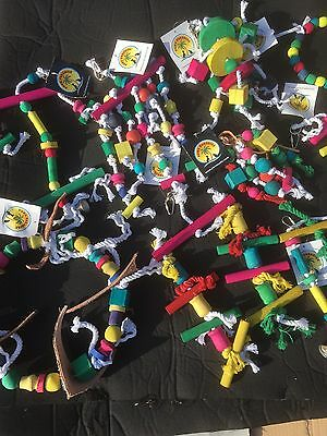 Parrot and Bird Toys - Good Assortment X100