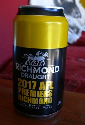 Richmond Tigers 2017 Premiership Carlton Draught Beer Can - empty