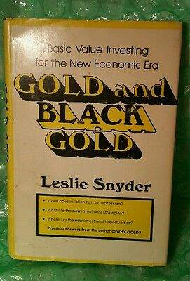 Vintage Oop Rare- Gold And Black Gold First Edition 1974 Leslie Snyder