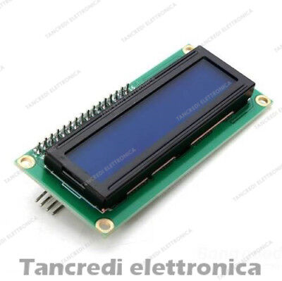 Display LCD 16x2 hd44780 Arduino retroilluminato a LED BLU + modulo I2C