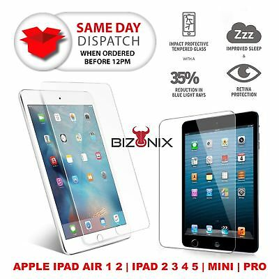 Tempered Glass Screen Protector for Apple iPad 2 3 4 Air 1 2 Mini 4 Pro 9.7 lot