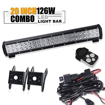 "20"" Led Light Bar+wiring kit Toyota tacoma chevy silverado titan pathfinder SUV"