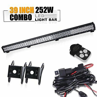 "39""Led Work Light Bar+wiring Toyota tacoma chevy silverado titan pathfinder SUV"