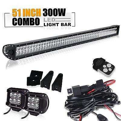 "50"" 52""Led Light Bar+4""18w light Toyota tacoma chevy silverado titan pathfinder"