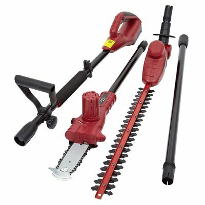 Trueshopping® 3 In 1 Chainsaw Hedge Trimmer Extension Pole Garden Multi Tool 18V