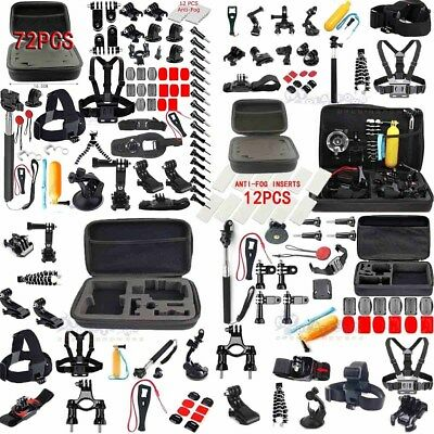 box/Anti-Fog fr GoPro Accessories Set Kit Hero 1 2 3 4 5 Camera Head Chest Mount