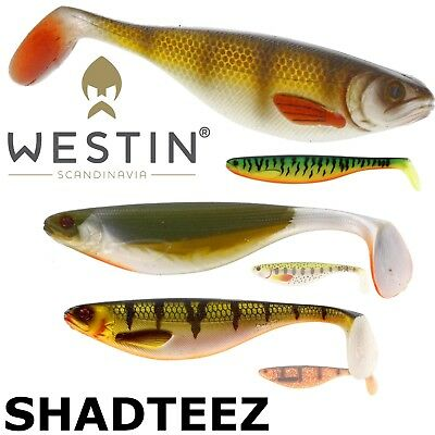 Westin Lures SHAD TEEZ up to 27cm Lure fishing Padle tail Realistic shad Pike