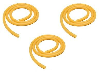 3 x 8mm×100cm Rubber Hose Amber Latex Tube Bleed Tube Lab Supplies