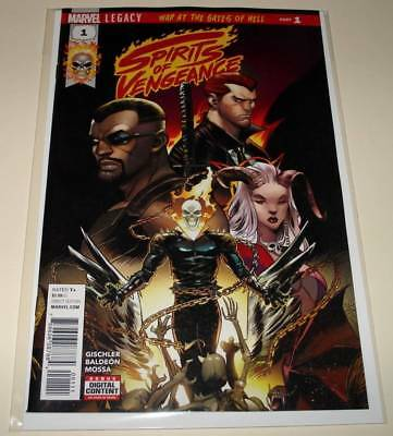 SPIRITS OF VENGEANCE # 1 Marvel Comic  (Dec 2017) NM   1st Printing.