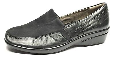 Womens Shoes Naturalizer N5 Comfort Wilma Wedge Slip On Loafers Black Size 8M