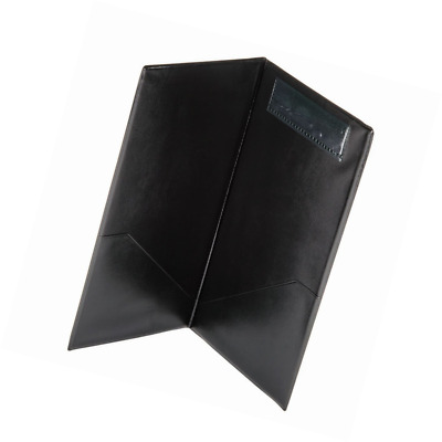 """New (Black) 5""""x9"""" Check Presenter, Restaurant Guest Check Holder with Credit Car"""