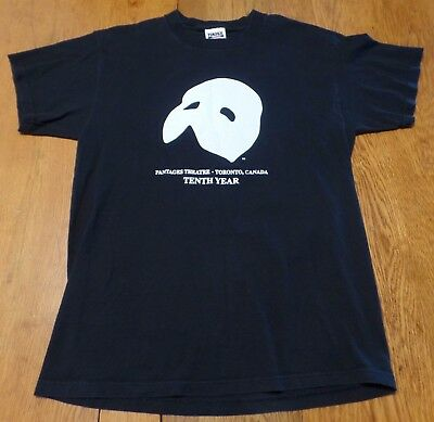 #3058-9 Phantom Of The Opera Pantages Theatre Toronto Canada Tenth Year Tee L