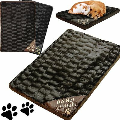Large Luxury Washable Pet Dog Cat Bed Mattress Soft Warm Fleece Fur Look