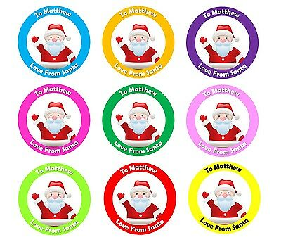 personalised christmas stickers present labels santa gift tags xmas