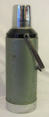 Vintage 70s Aladdin STANLEY Drink Thermos No 100 Two Quart Green With Handle