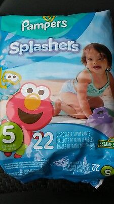 Lot of 29 packages PAMPERS Splashers SWIM Diapers Pants Size 5 30-40 lbs