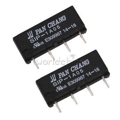 1/2/5/10PCS Dry Reed Relay SIP-1A05 Reed Switch Relay DC 5V 4PIN for PAN CHANG