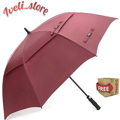 Golf Umbrella 68 Inch Windproof Double Canopy Big Vented Extra Large Oversize