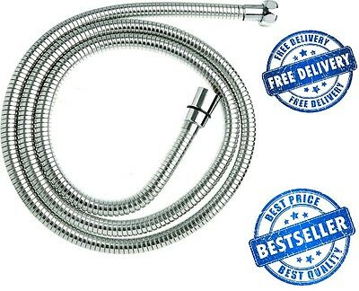 2.5M EPDM Chrome Stainless Steel Shower Hose Triton Mira Grohe Replacement