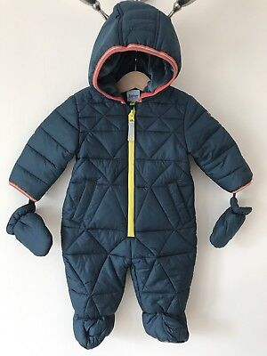 Ted Baker Baby Boy Green All In One Snowsuit 3-6 Months