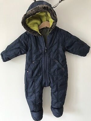 Ted Baker Baby Boy All In One Snowsuit 6-9 Months Navy Blue