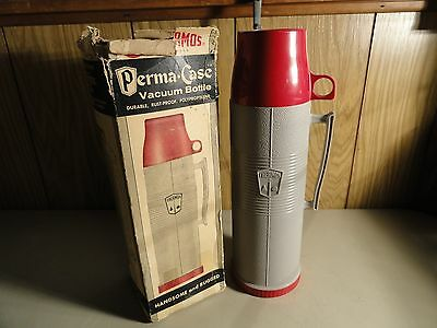 Vintage The American Thermos Prouducts Co. 1960 Perma-Case Thermos Bottle