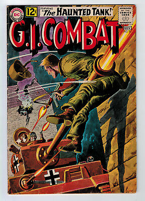 Gi Combat #96 4.5 Haunted Tank Grey Tone Cover 1962 Off-White Pages