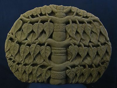Khmer Sandstone Bodhi Tree High Relief, 10th Century, Koh Ker Style