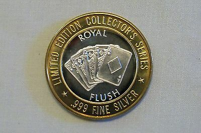 Grand Casino Limited Edition Collectors Series .999 Silver ROYAL FLUSH Token