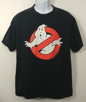 Ghost Busters T Shirt Large Black Classic Graphic Vtg Style Original Movie Logo