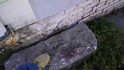 19th Century Carved Stone Carriage Stagecoach Mounting Step Stepping Port Jervis
