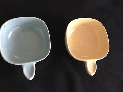 Two (2) Guy Boyd (Australian Pottery) Square Ramekins (Set #2)