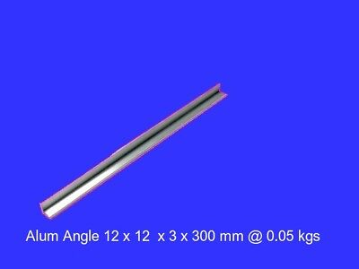 Aluminium Angle 12 x 12 x 3 x 300 mm ( 6060 T5 )-Lathe-Mill-Model Building