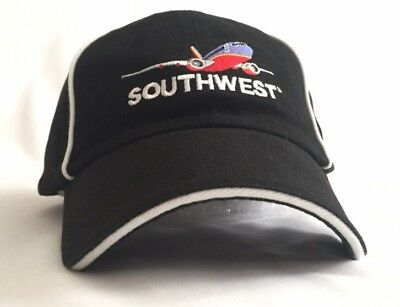 "SOUTHWEST AIRLINES - SWA ""Fare Play"" Black Baseball Cap, Hat, Emboidered NEW!"