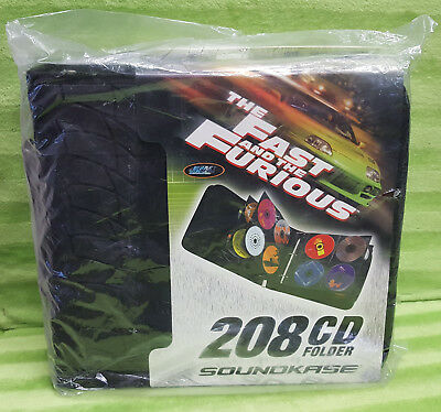 Soundkase 2 Fast 2 Fast and the Furious 208 CD DVD Folder Tire Treads NEW Sealed