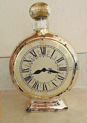 AVON Gold Clock 6 Fl. Oz. Leather After Shave - Empty