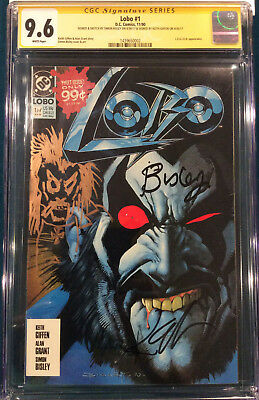LOBO #1 SIGNED AND SKETCH CGC SIMON BISLEY KEITH GIFFEN COMIC DC not cbcs 9.6