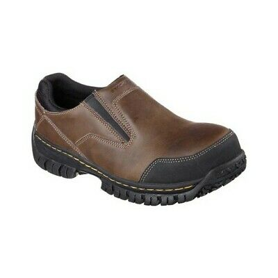 Skechers Men's   Work Relaxed Fit Hartan Steel Toe Slip On Shoe