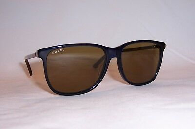 9ea8deee5be New Gucci Sunglasses Gg 0017S 005 Blue Havana brown Authentic 0017